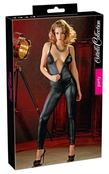 Комбинезон Cotelli Collection с 2-мя молниями черный, S - фото 43375