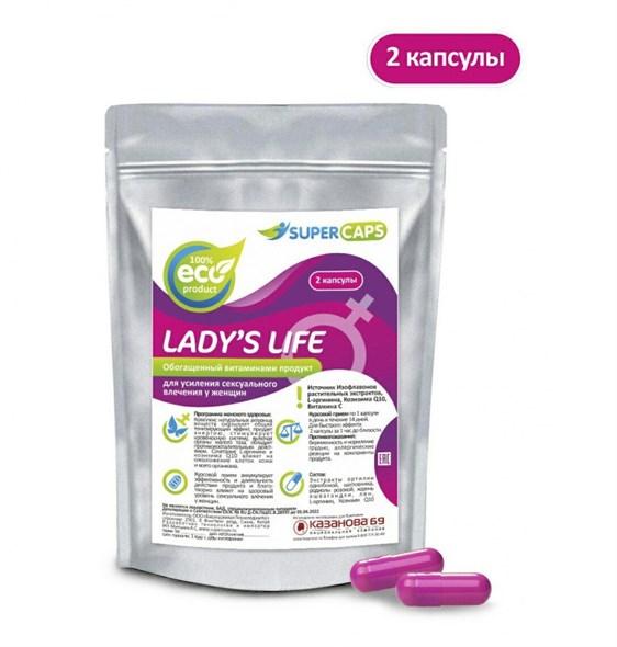 """Афродизиак """"Lady'sLife"""" для женщин, 2 капсулы - фото 45585"""