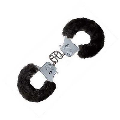 Наручники Furry Fun с мехом черные