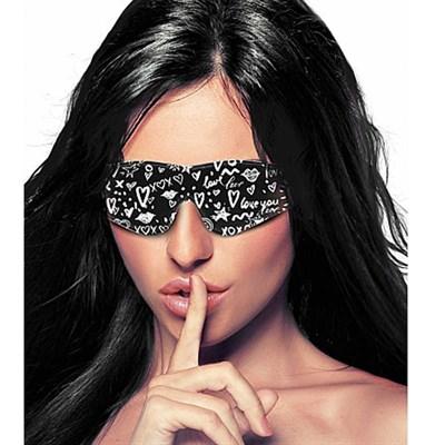 Маска для глаз закрытая OUCH! Love Street Art Fashion черно-белая