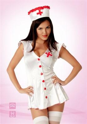 Костюм игривой медсестры белый L/XL (46-48), Le Frivole