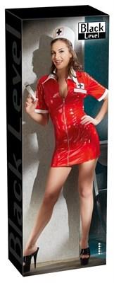 """Платье Black Level """"Медсестра"""" красное, L"""