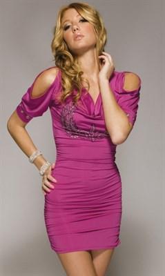 "Платье ""Zepplin"" пурпурное, M"