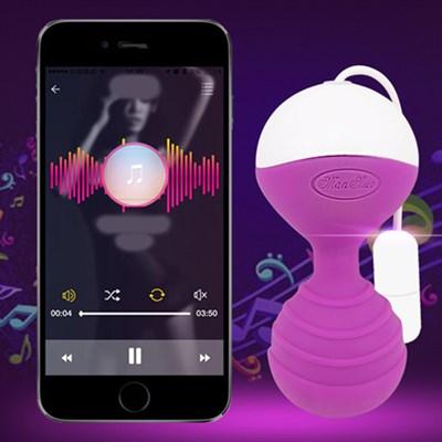 Вагинальные шарики MoNie гаджетоуправляемые, розовый силикон