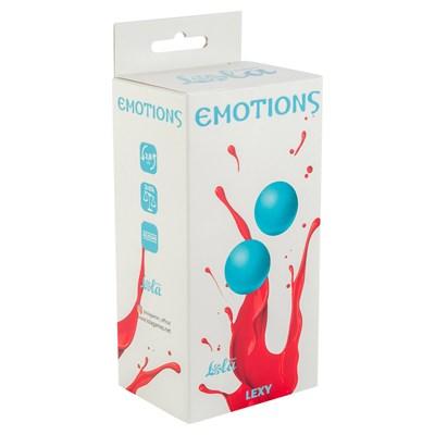 Вагинальные шарики без сцепки Emotions средние голубые