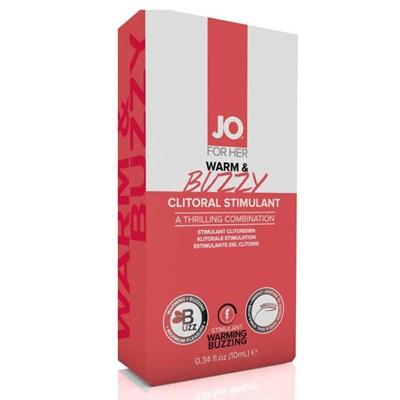 Крем Jo Warm & Buzzy для клитора с контрастом температур и вибрацией,10 мл