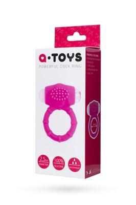Эрекционное кольцо на пенис A-Toys силикон розовый, 2,5 см