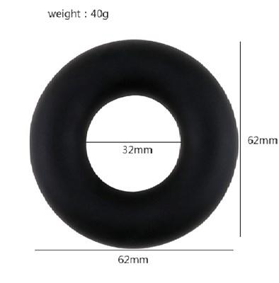 Эрекционное кольцо-ограничитель длинны пениса, черное