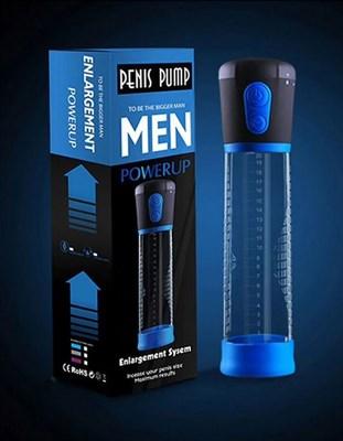 Помпа-автомат мужская Penis Pump с манометром, диаметр 6см, длина колбы 20см