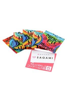 Презервативы Sagami Miracle Fit розовые, 5шт