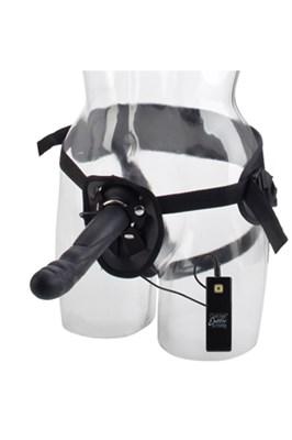 Вибро-страпон Love Rider Rippler, 10 режимов, черный силикон