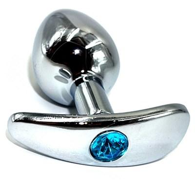 Пробка для ношения металл с бирюзовым кристаллом, 6*2,6см