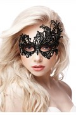 Ажурная маска на глаза OUCH! Royal Black, черная