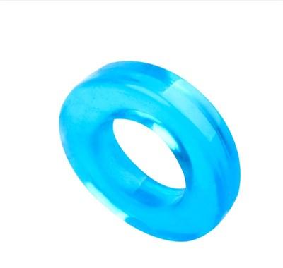 Эрекционное кольцо-ограничитель длинны, голубой ТПЕ