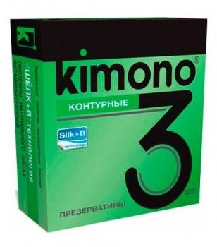 """Презервативы """"Kimono"""" контурные, 3шт"""